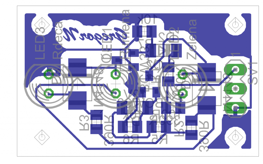 Disposition and other layouts of PCB