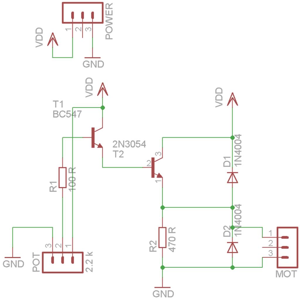 Motor regulator scheme